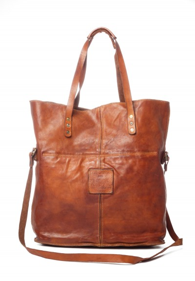 Campomaggi Leather Tote in Cognac