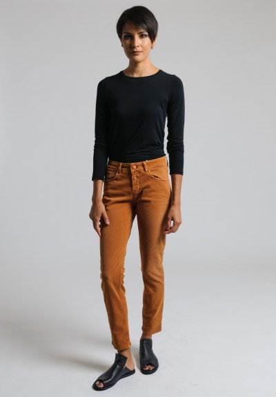 Closed Cropped Narrow Jeans in Autumn Orange