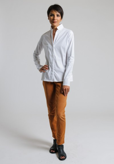 Lareida Stretch Cotton Shirt in White
