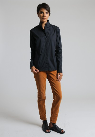 Lareida Stretch Cotton Shirt in Black