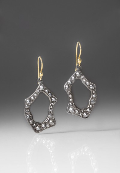 TAP by Todd Pownell Darkened Palladium Frame Earrings