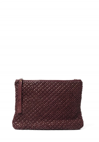 Massimo Palomba HAND WOVEN LEATHER ZIP TOP CROSS BODY BAG