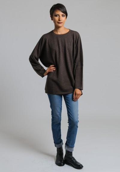 Hania Cashmere Crew Neck Sweater in Porcupine