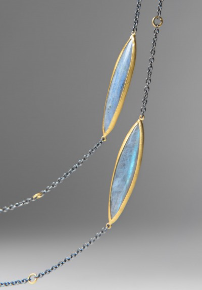 Lika Behar Diamond Labradorite Necklace