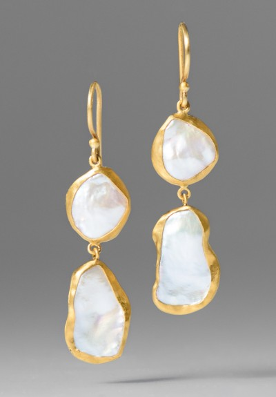 Lika Behar Drop Keshi Pearl Earrings