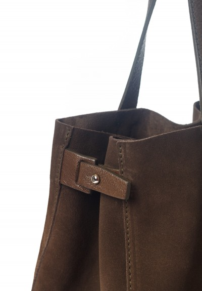 Massimo Palomba Charlie Suede & Leather Tote in Olive