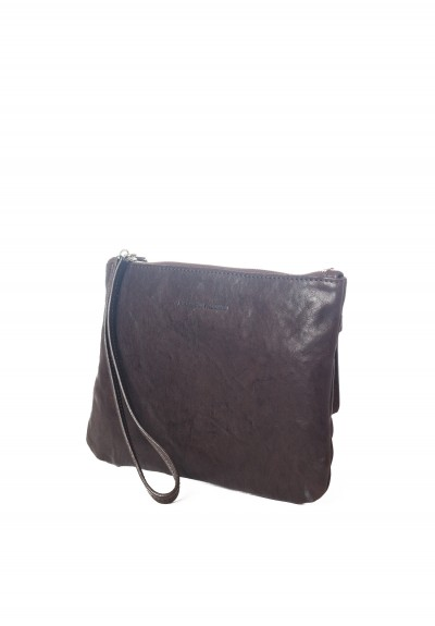 Massimo Palomba Lily Washed Leather Bag in Ebano