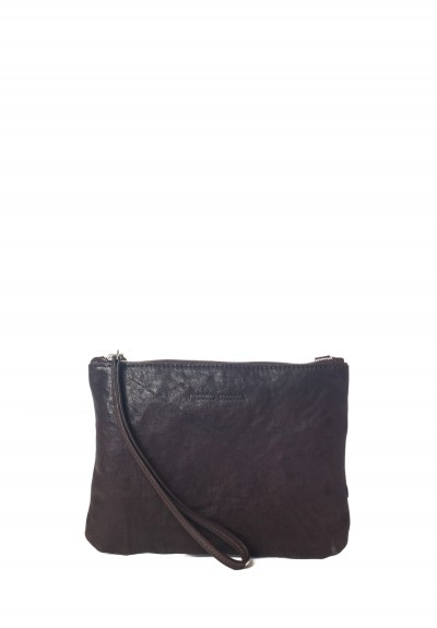 Massimo Palomba Lily Washed Leather Bag in Midnight