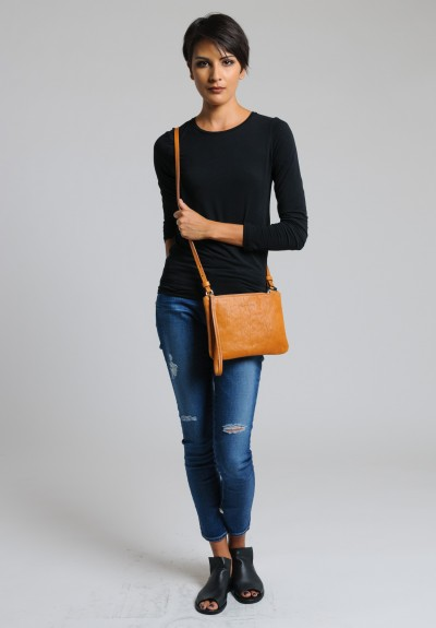 Massimo Palomba Lily Washed Leather Bag in Cuoio