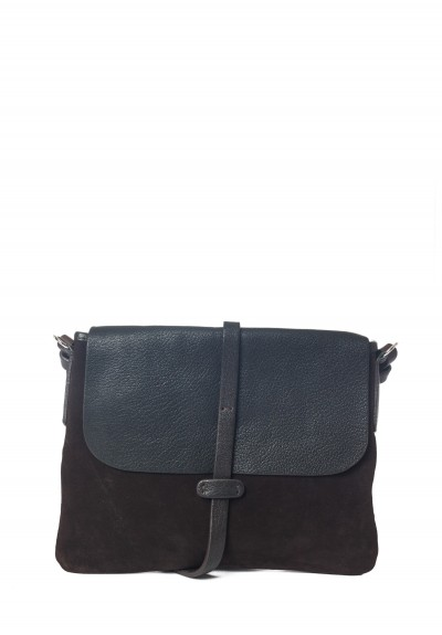 Massimo Palomba Zaza Suede & Leather Satchel in Ebano