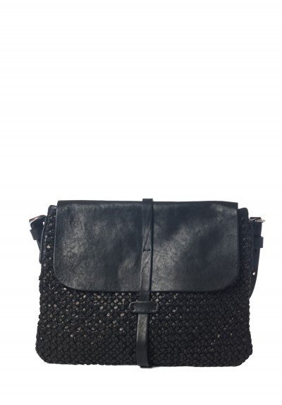 Massimo Palomba Zaza Handwoven Satchel in Black