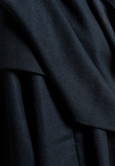 Denis Colomb Solid Color Throw in Black