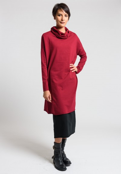 Labo.Art Abito Angela Jersey Dress in Granata