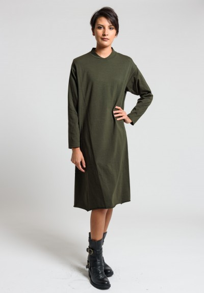 Labo.Art Abito Bill Jersey Dress in Wood