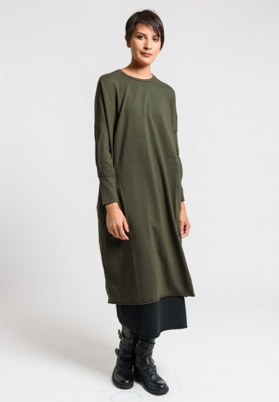 Labo.Art Abito Peggy Jersey Dress in Wood
