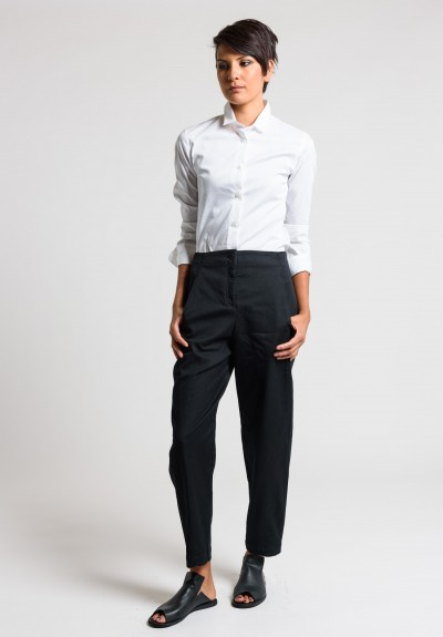Oska Rela Cotton Pants in Black
