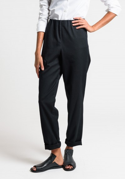 Oska Nele Cotton Pants in Black
