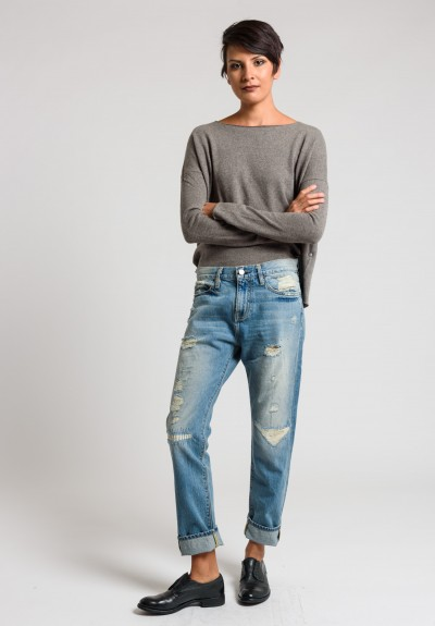 Artisan De Luxe Vic-X Jeans with Distressed Details in Light Faded Blue