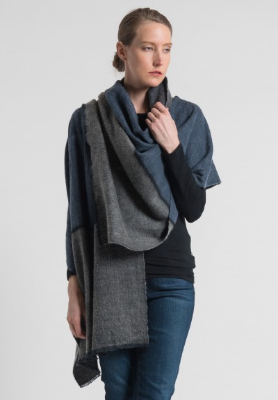 Denis Colomb Dolpo Ndebele Shawl in Grey