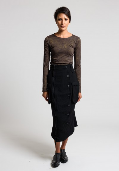 Rundholz Embellished Pencil Skirt in Black