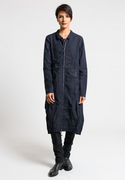 Rundholz Dip Long Jacket Dress in Blue Ink Cloud