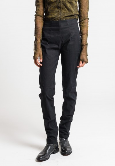 Rundholz Dip Tapered Leg Pants in Black Cloud