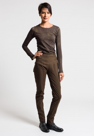 Rundholz Dip Tapered Leg Pants in Linoil Cloud