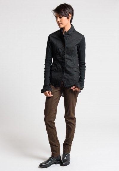 Rundholz Dip Simple Cotton Jacket in Black Cloud