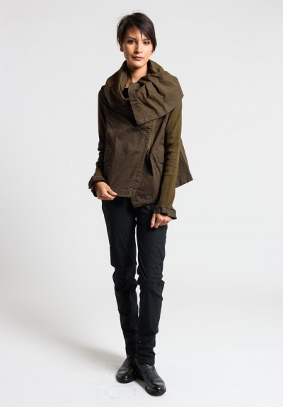 Rundholz Dip Oversized Cowl Neck Jacket in Linoil Cloud