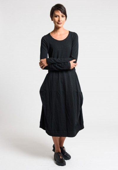 Rundholz Black Label Exposed Seam Tulip Dress in Black