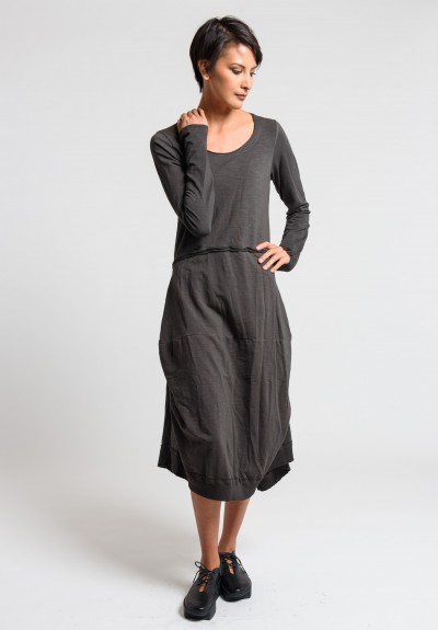 Rundholz Black Label Exposed Seam Tulip Dress in Ash