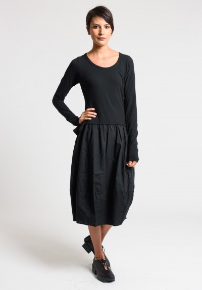 Rundholz Black Label Attached Skirt Dress in Black