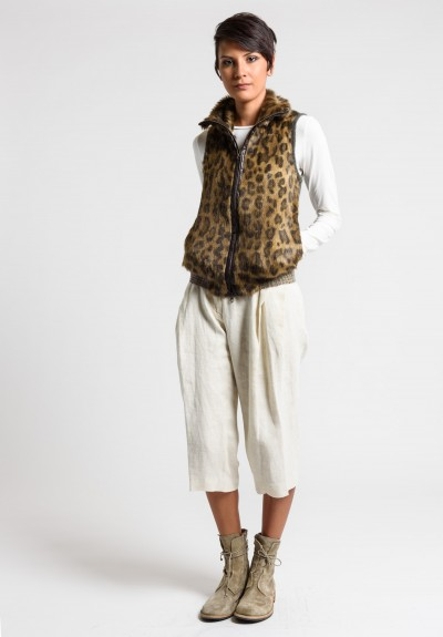 Share Spirit Faux Fur Vest in Leopard