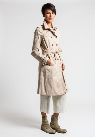 Share Spirit Double Breasted Trench Coat in Beige