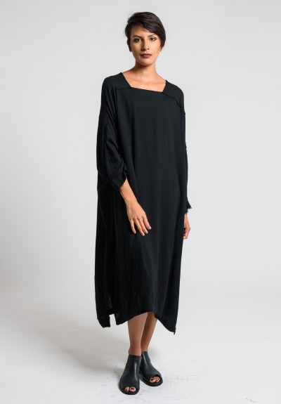 Black Crane Dome Dress in Black