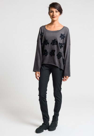 Rundholz Black Label Overlay Pattern Oversize Sweater in Ash Print