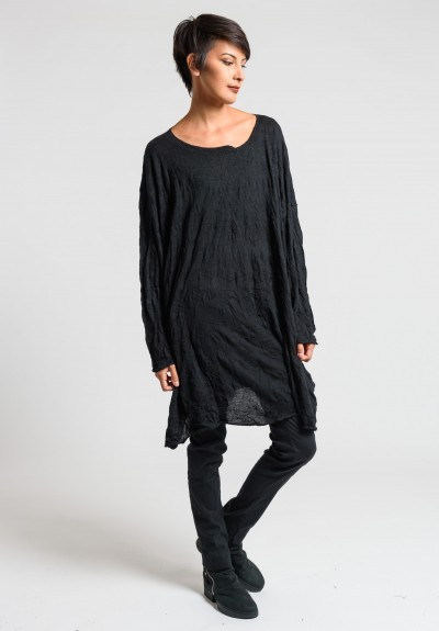 Rundholz Black Label Knitted Oversize Tunic Dress in Black