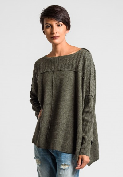 Paychi Guh Slim Sleeve Sweater in Army Green