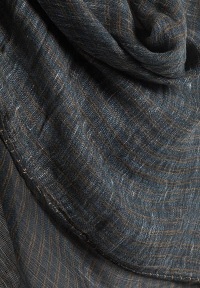 Ever Veritas Stripe Printed Scarf in Black