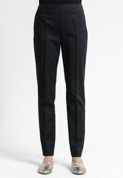 Akris Melissa Techno Cotton Stretch Pant in Black