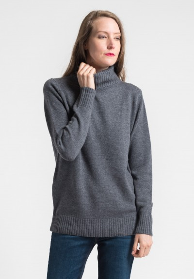 Pauw Wool/Cashmere Turtleneck Sweater in Grey