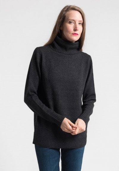 Pauw Wool/Cashmere Turtleneck Sweater in Charcoal