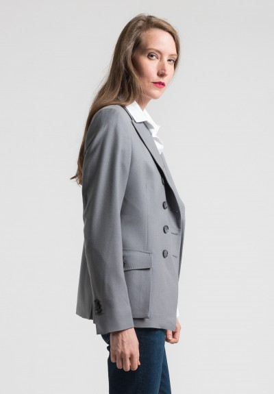 Pauw Wool Double-Breasted Jacket in Grey