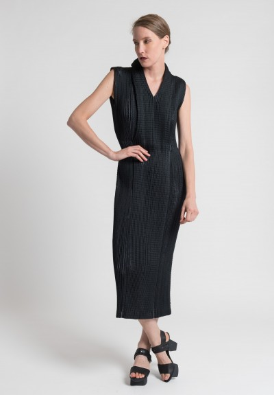 Issey Miyake Stardust Long Dress in Black