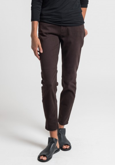 Closed Baker Cropped Narrow Jeans in Chestnut
