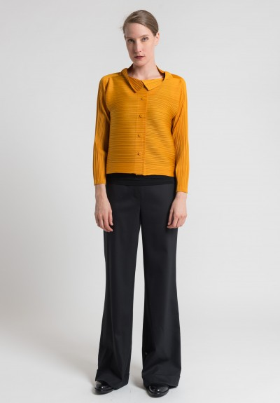 Issey Miyake Pleats Please Edgy Bounce Jacket in Marigold