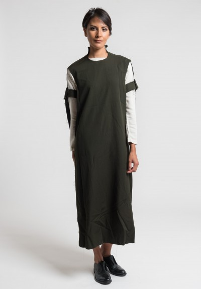 Damir Doma Deledda Tunic Dress in Dark Moss