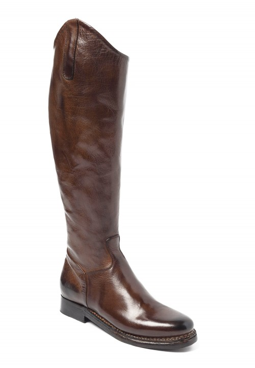 Silvano Sassetti Knee High Riding Boots in Dark Brown