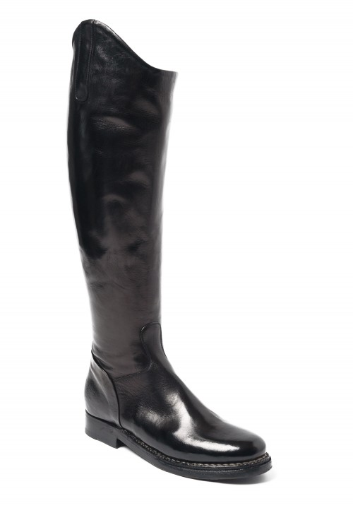 Silvano Sassetti Knee High Riding Boots in Black