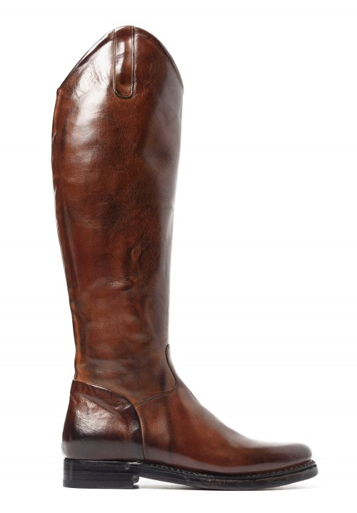 Silvano Sassetti Knee High Riding Boots in Cuoio